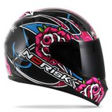 Capacete-Ff391-Roses-Gloss-Black-Fechado-connectparts--1-