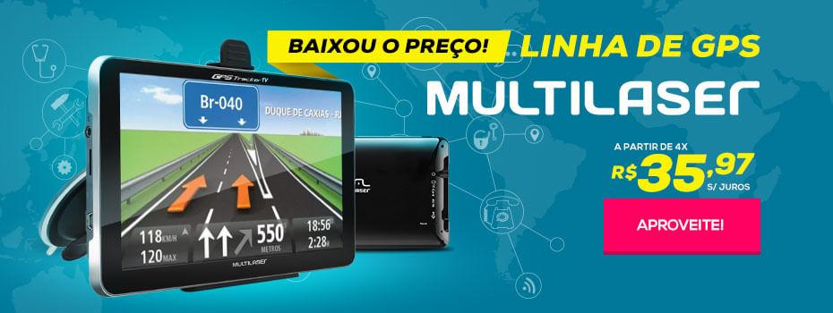 GPS Multilaser - A Partir de 4X de R$ 35,97