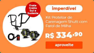 Kit Protetor de Carenagem CG 160 Fan Titan Start Shutt com Farol de Milha Angel Eyes