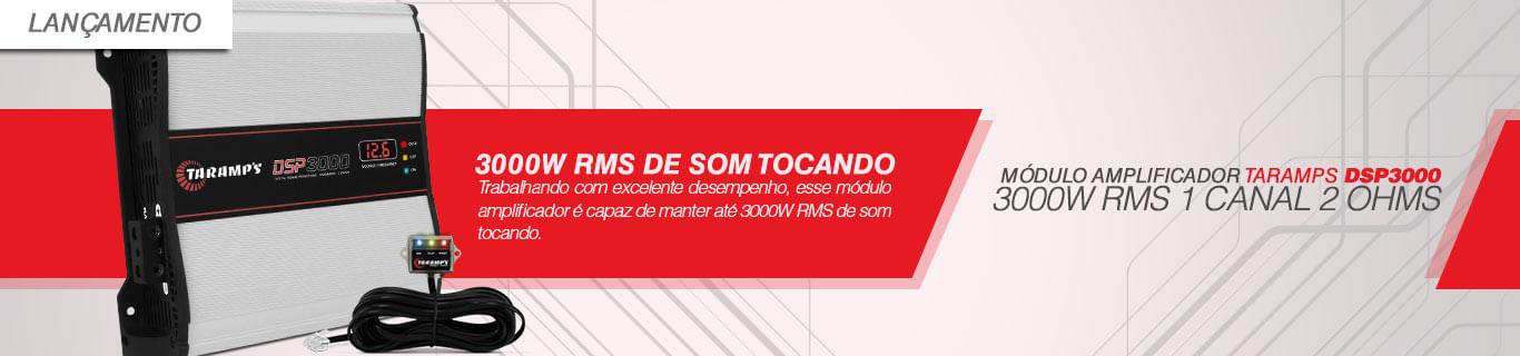 Módulo Amplificador Taramps DSP3000 3000W RMS 1 Canal 2 Ohms