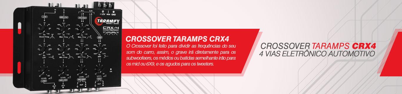 Crossover Taramps Crx4 De 4 Vias Eletrônico Som Automotivo
