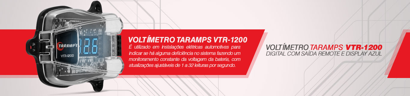 Voltímetro Taramps Vtr-1200 Digital Remote Display Azul