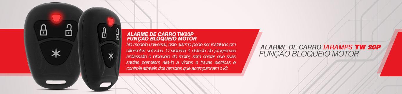 Alarme Carro Taramp's TW 20P Função Bloqueio Motor