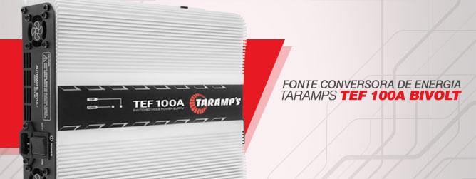 Fonte Conversora de Energia Taramps - TEF 100A Bivolt