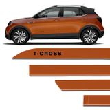 Jogo-Frisos-Lateral-Facao-Vw-T-Cross-2019-A-2020-Laranja-Energetic-Cor-Original-Dupla-Face-connectparts