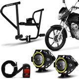 Protetor-De-Carenagem-Com-Slider-Honda-Cg-150-Titan-Fan-Shutt-Preto---Farol-de-Milha-Angel-Eyes-LED-connectparts---1-