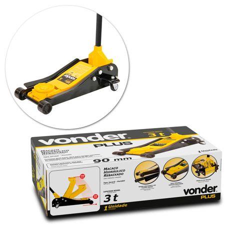 Macaco-Hidraulico-Tipo-Jacare-Vonder-Plus-Rebaixado-3-Toneladas-Amarelo-connectparts---2-