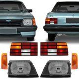 Par-Farol-Monza-1988-1989-1990-Cromado-Lente-Vidro---Pisca-Ambar---Lanterna-Traseira-Tricolor-connectparts---1-