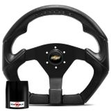 Volante-Shutt-S3R-Basic-Line-Com-Detalhe-Preto-Com-Acionador-Buzina---Cubo-Chevette-Chevy-Marajo-Connect-Parts--1-