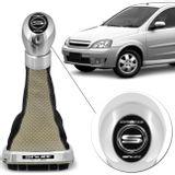 Kit-Coifa-Cambio-Shutt-Corsa-Classic-Hatch-95-a-10-Preta-e-Bege---Manopla-Orbitt-G1-Aluminio-Cromado-connect-parts--1-