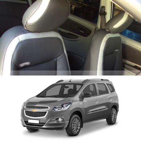 Revestimento-Banco-Couro-Chevrolet-Spin-2012-a-2018-Grafite-30por-cento-Couro-Legitimo-Bipartido-20-connectparts---1-