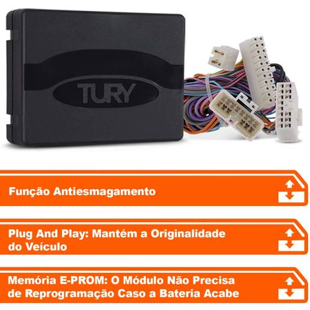 Modulo-de-vidro-eletrico-Tury-Plug-Play-Chevrolet-Sonic-4-portas-antiesmagamento-PRO-4.4-AI--connectparts---2-