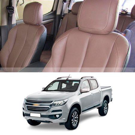 Revestimento-Banco-Couro-Chevrolet-S10-CD-2018-Marrom-100por-cento-Couro-Legitimo-Interico-16-pecas-connectparts---1-