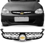 Grade-Dianteira-Corsa-Hatch-Classic-99-a-10-Preta-Emblema-sem-Tela---1-