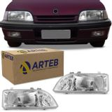 Par-Farol-Monza-1991-1992-1993-1994-1995-1996-Mascara-Cromada-Foco-Duplo-Original-Arteb-connectparts--1-