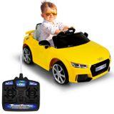 carro-eletrico-carrinho-infantil-audi-tt-rs-amarelo-controle-remoto-12v-entrada-mp3-12v-2-portas-connectparts--1-