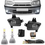 Kit-Farol-Milha-Palio-Siena-Strada-Weekend-G1-Palio-Young---Par-Lampadas-Super-LED-H1-6000K-6400LM-connect-parts--1-