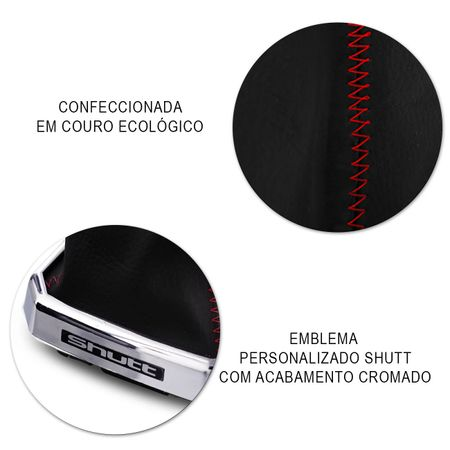Coifa-Cambio-GM-Meriva-2003-a-2012-Napa-Preta-com-Base-Cromada-Costura-Vermelha-Otimo-Acabamento-connectparts---4-