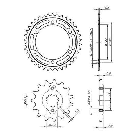 Kit-Coroa-e-Pinhao-Relacao-Transmissao-Honda-CBR-250R-2011-A-2013-Vaz-Xtreme-connect-parts--3-