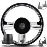 Volante-Shutt-Surf-Cromado-Xtreme-Apliques-Preto-Prata-Escovado-Carbono---Cubo-Ka-Fiesta-Linha-Ford-Connect-Parts--1-