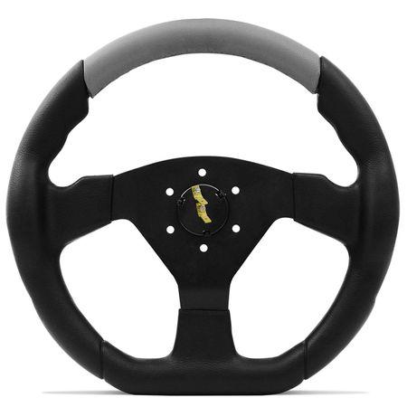 Volante-Esportivo-Shutt-SRHB-Preto-e-Cinza-com-Acionador-de-Buzina---Cubo-Ka-Fiesta-Linha-Ford-Connect-Parts--3-