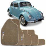 Jogo-de-Tapete-Carpete-fusca-59-a-69-bege-Grafia-Logo-Bordado-5-Pecas-connectparts---1-
