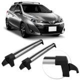 Rack-De-Teto-Toyota-Yaris-2018-A-2019-Transversal-Prata-Em-Aluminio-Anodizado-connectparts---1-