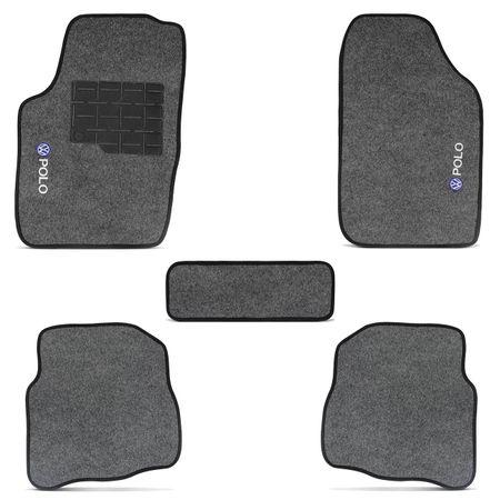 Jogo-de-Tapetes-Carpete-Polo-Hatch-Sedan-2007-a-2016-Grafite-Bordado-5-Pecas-Connect-Parts--3-