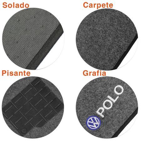 Jogo-de-Tapetes-Carpete-Polo-Hatch-Sedan-2007-a-2016-Grafite-Bordado-5-Pecas-Connect-Parts--5-