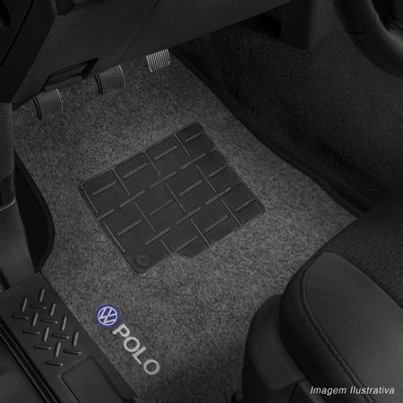 Jogo-de-Tapetes-Carpete-Polo-Hatch-Sedan-2007-a-2016-Grafite-Bordado-5-Pecas-Connect-Parts--6-