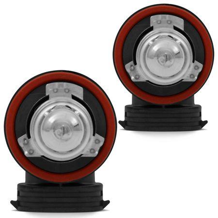 Kit Lâmpada Philips Xtreme Vision H11 3350K 55W Dobro de Alcance Luz Branca  Amarelada