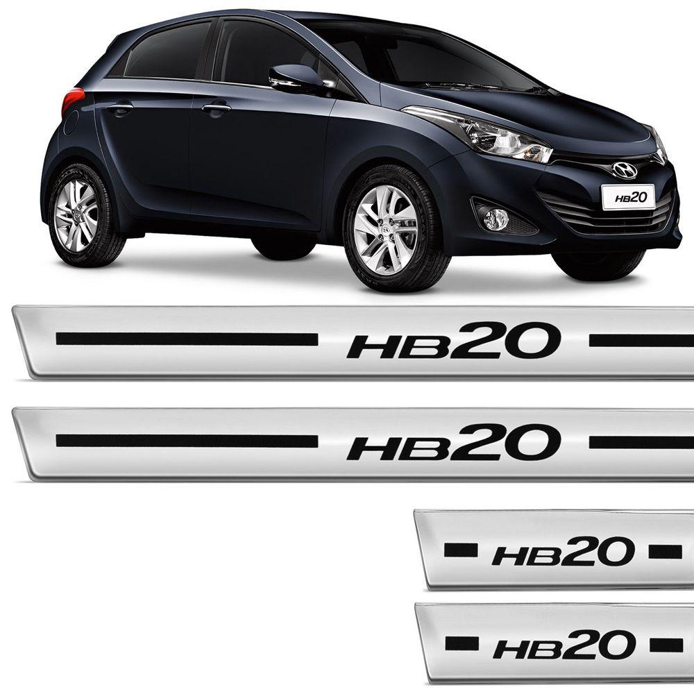 d01962d939741 Soleira Personalizada HB20 4 Peças Adesivo - Connect Parts