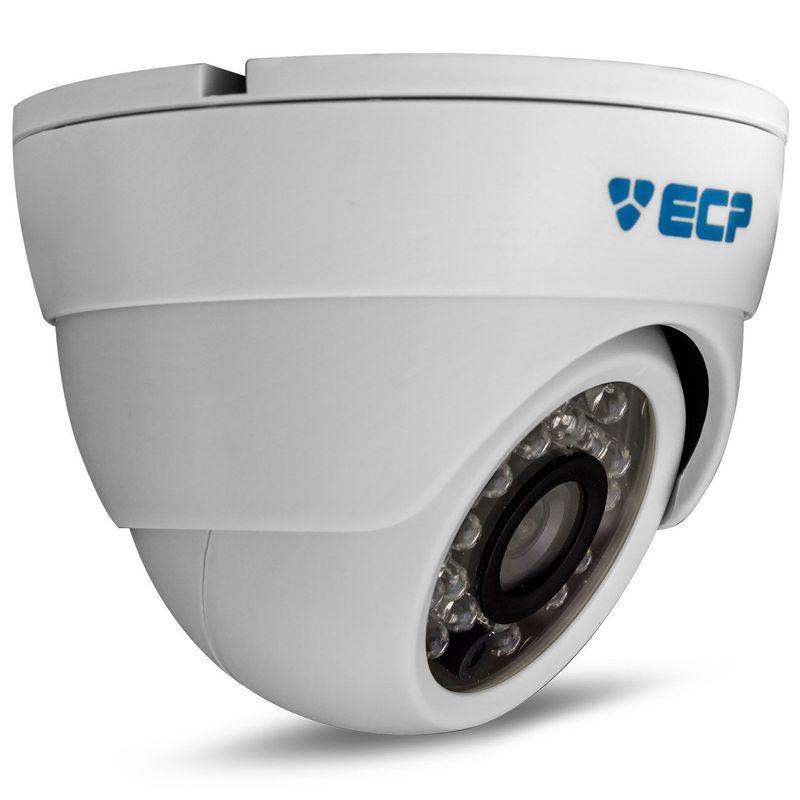 Câmera Segurança Dome ECP F180082 Infra 23 LEDs Super Digital 1/3 Polegadas