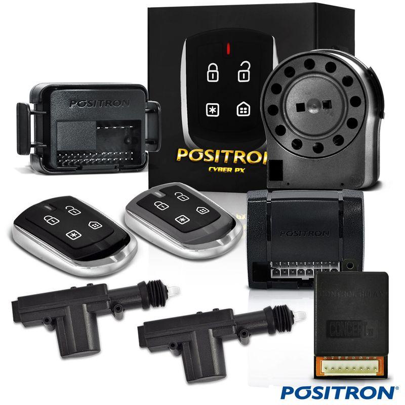 Alarme de Carro Pósitron Px300 com Trava e Módulo 2P