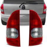 6aed1333955 Lanterna Traseira Corsa Hatch 4 Portas Pick Up 00 a 02 Bicolor Fumê
