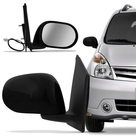 Retrovisor Elétrico Nissan Livina 2009 2010 2011 2012 2013 2014 Preto