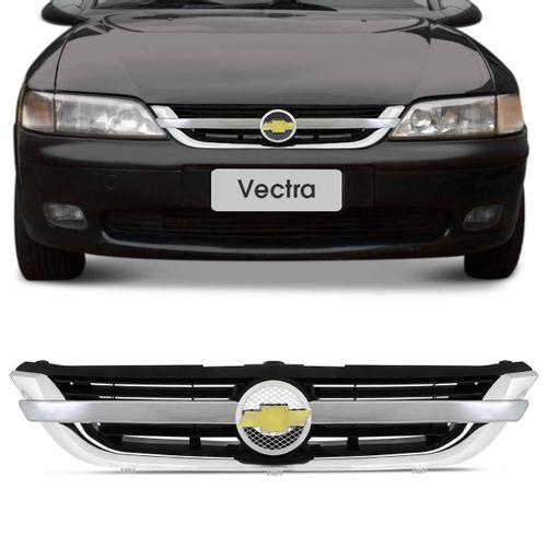 Grade-Dianteira-Vectra-97-a-05-Filete-Cromado-Emblema-connectparts--1-