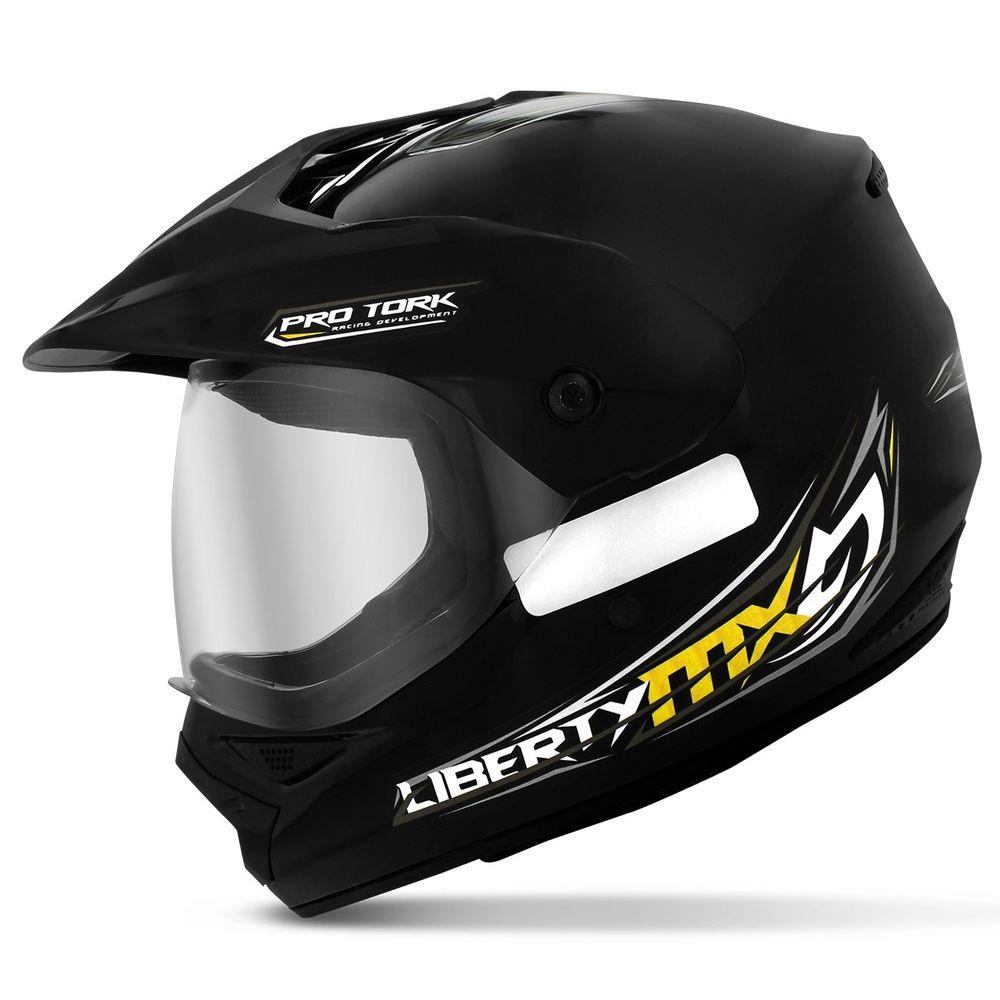 Capacete Motocross Pro Tork Liberty Mx Pro Vision Trilha Preto 381113995e9