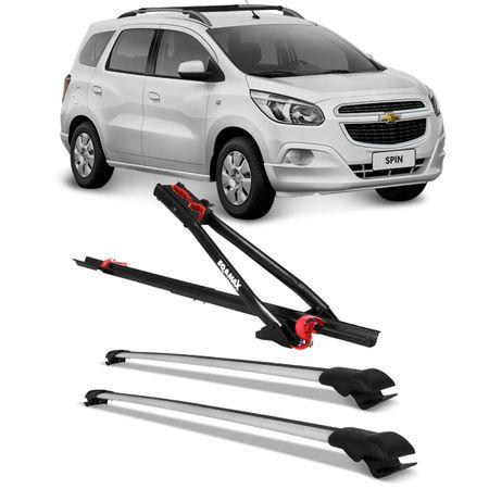 Kit-Rack-de-Teto-Travessa-Chevrolet-Spin-12-a-15-Larga-Prata---Transbike-Universal-Connect-Parts--1-