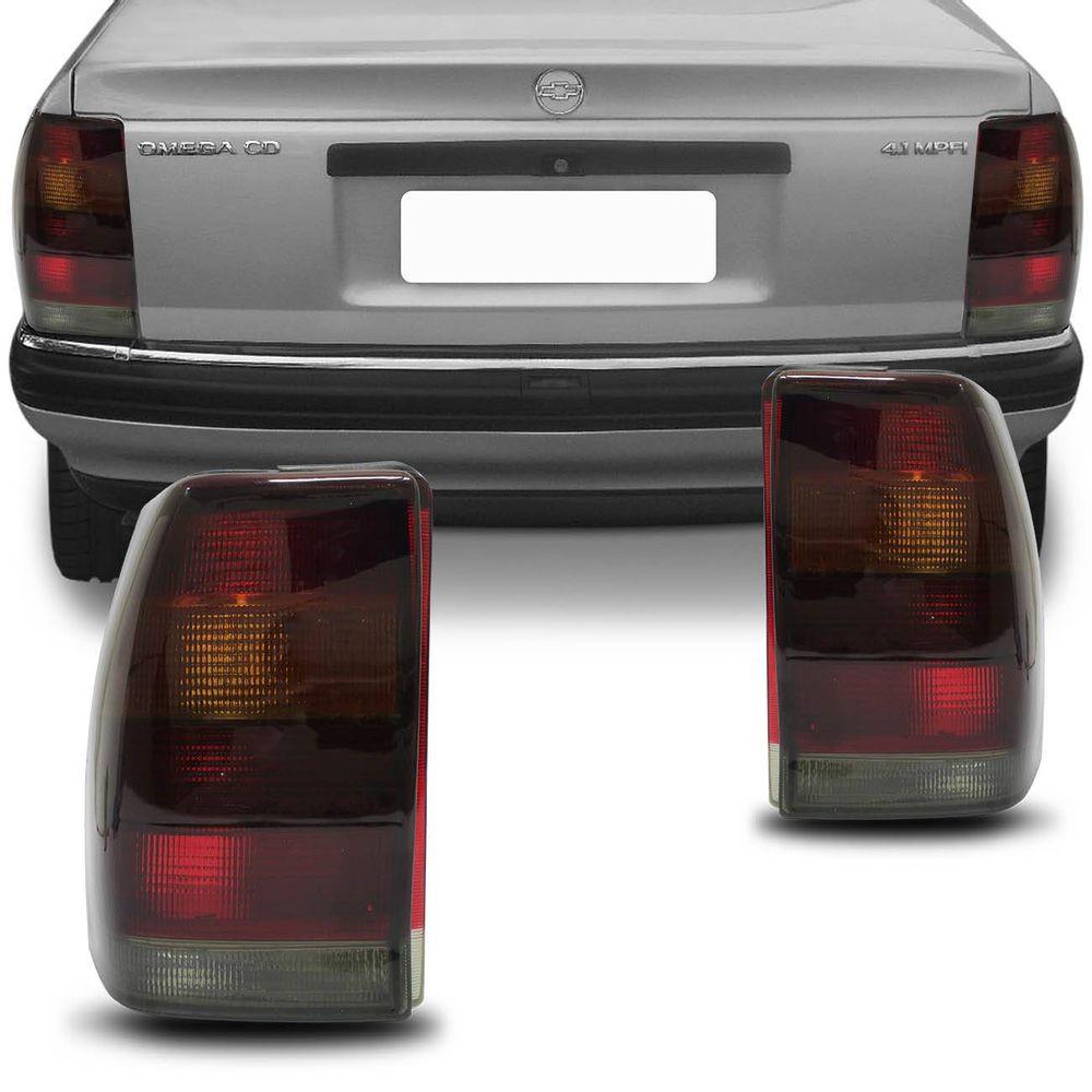 da555e4bffe Lanterna Traseira Omega 1993 1994 1995 1996 1997 1998 Tricolor Fumê ...