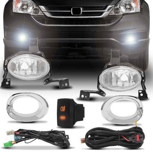 Kit-Farol-de-Milha-Honda-Crv-2010-2011-Com-Moldura-Aro-Cromado-connect-parts--1-