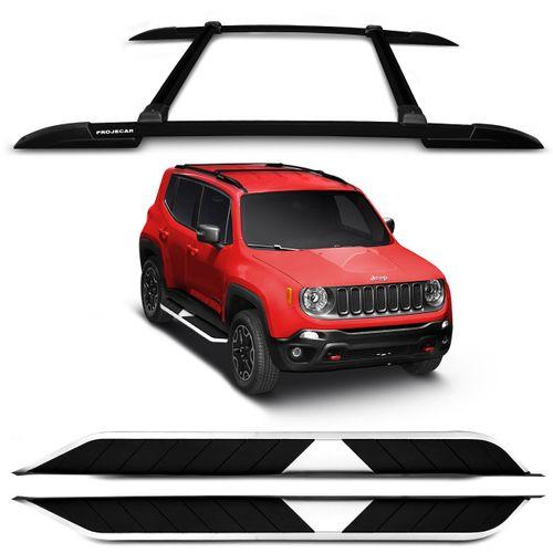 kit-Rack-Teto-Jeep-Renegade-15-16-4-Pecas-Preto-Bagageiro---Estribo-Aluminio-Preto-Connect-Parts--1-