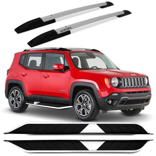 kit-Longarina-Rack-Teto-Projecar-Jeep-Renegade-15-16-Prata---Estribo-Aluminio-Preto-connect-parts--1-