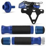 Kit-Evolution-azul-XJ6-manopla-pesos-guidao-regulador-embreagem---suporte-placa-articulado-Connect-Parts--1-