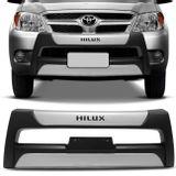 Overbumper-Hilux-05-a-09-Preto-com-Prata-Front-Bumper-connect-parts--1-