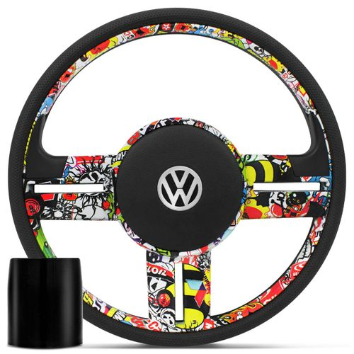 Volante-Rallye-Bomber-Stick---Cubo-Gol-Parati-Saveiro-G2-G3-G4-Gol-G6-Fox-Golf-e-Outros-VW-Connect-Parts--1-