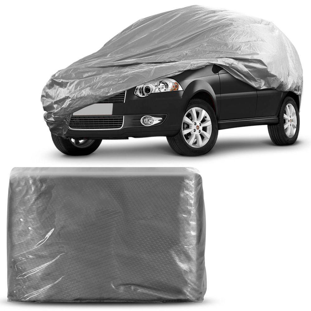 1a78d5f792f Capa Protetora para Cobrir Carro 100% Impermeável com Forro Central e  Elástico Tamanho P Cor Cinza