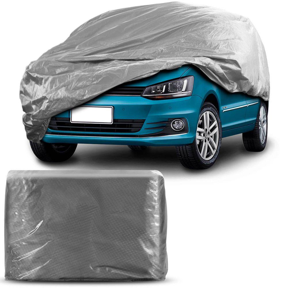 0e260ed9b4d Capa Protetora para Cobrir Carro 100% Impermeável com Forro Central e  Elástico Tamanho M Cor Cinza