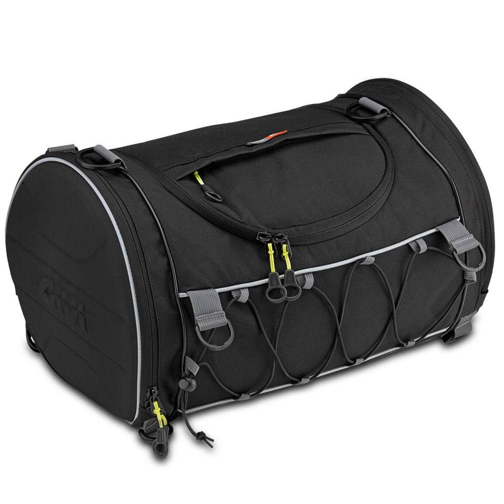 f5ce06384 Bolsa Mochila Cilindrica 33 Litros Givi EA107B Moto Universal Easy-T Preto  + Capa de Chuva Preto