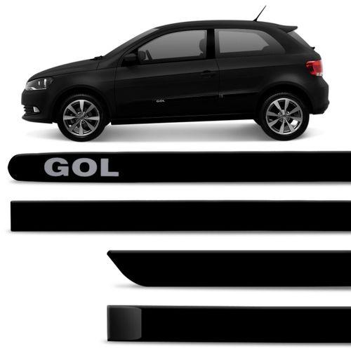 2019 2009 2014 Audi Vw Media In Ami Mdi To Stereo 3 5mm: Jogo De Friso Lateral Gol 2009 A 2019 Preto Ninja Cor